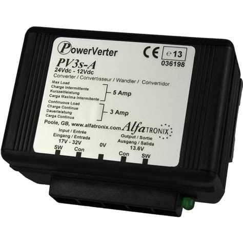converters diodes alfatronix pv3s a 24vdc to 12vdc