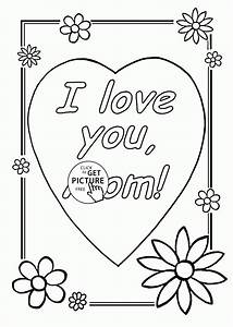 I Love You Mom - Mother's Day coloring page for kids ...