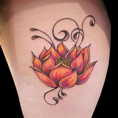 enticing lotus flower tattoos