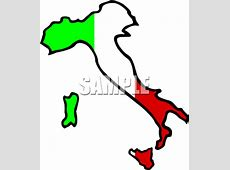 Royalty Free Italy Flag Clipart