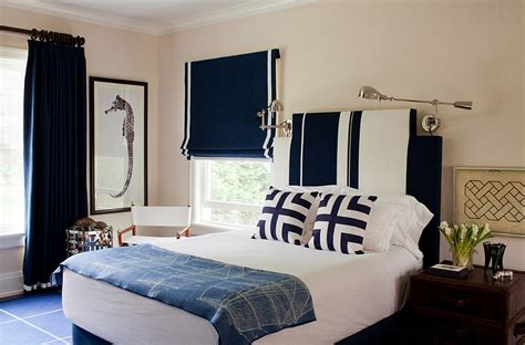 Navy Blue And White Bedroom by Blue And White Interiors Living Rooms Kitchens Bedrooms