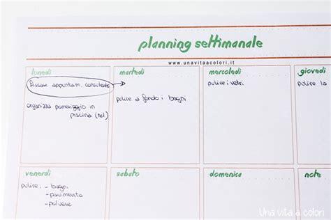 Planning Settimanale Da Scrivania by Planner Settimanale Da Stare Per Tavolo O Agenda