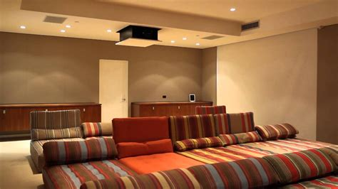 hidden technology home theater video projector reveals