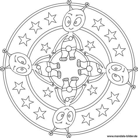 mandala ausmalbild alien und ausserirdischen