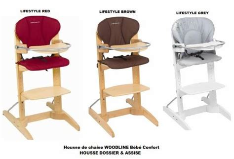 Chaise Bébé Evolutive by Housse De Chaise Haute Woodline Bebe Confort Differents