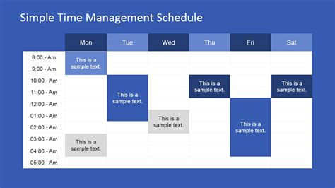week schedule powerpoint template slidemodel