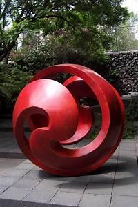 Wanddeko Für Garten : garten skulptur moderner stil kugel rot in 2019 ~ Watch28wear.com Haus und Dekorationen
