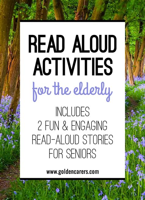 read aloud activities   elderly