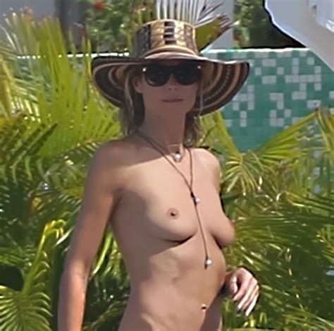 Heidi Klum Topless In Saint Barthelemy Scandal Planet