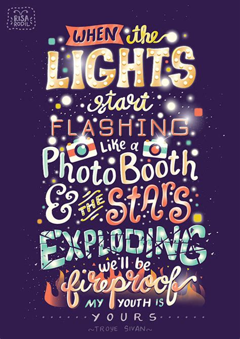 beautiful funky typography posters retro lettering