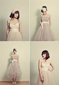 for the love of tulle onewed With tea length tulle wedding dress