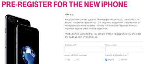 t mobile iphone trade in t mobile offering free 32gb iphone 7 during pre order with 2979