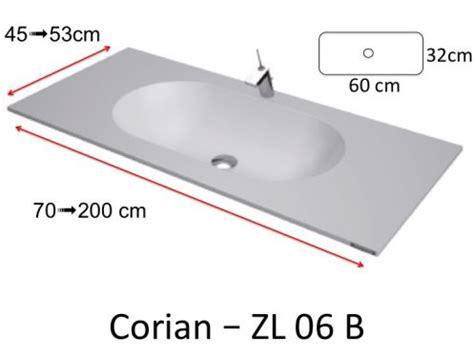 Vanités Définition by Plan Toilette Avec Vasque Int 233 Gr 233 E Type Corian En R 233 Sine