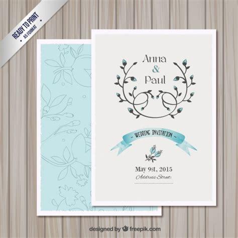 wedding invitation card template vector  vector