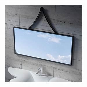 Miroir Cadre Noir : miroir rectangulaire avec cadre inox noir sdvm10045 ~ Teatrodelosmanantiales.com Idées de Décoration
