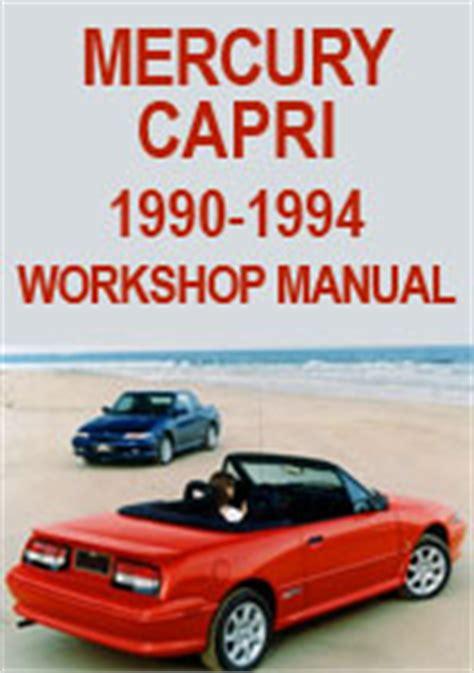 car repair manuals online free 1994 mercury capri parental controls mercury capri 1990 1994 workshop repair manual