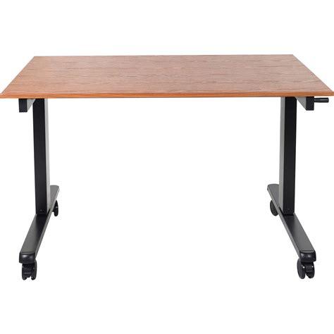 luxor stand up desk luxor 48 quot crank adjustable stand up desk standcf48 bk tk