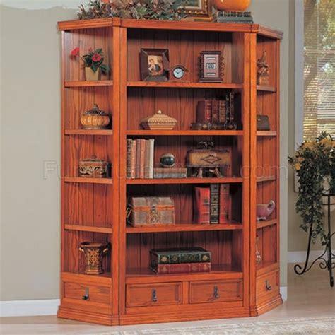 Oak Finish Bookcase by Oak Finish Versatile Bookcase W Optional Corner Bookcases