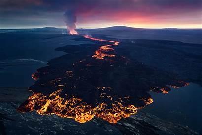 Lava Volcano Flow Volcanoes Magma Iceland Volcanic