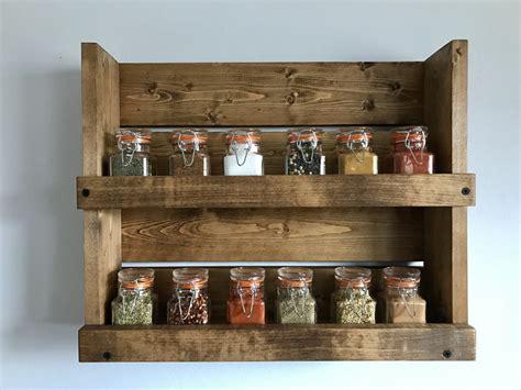Shelf Spice Rack by Rustic Spice Rack With 2 Shelves Bathroom 2 Shelf Organizer