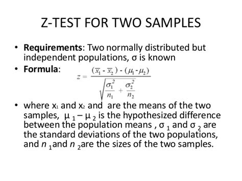 test formula example examples ztest two samples pdf requirements