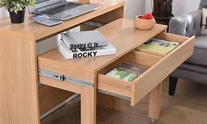 Bureau Console Extensible : console bureau avec 2 tiroirs extensibles groupon shopping ~ Teatrodelosmanantiales.com Idées de Décoration