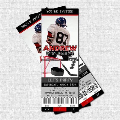 hockey thank you card template hockey ticket invitations free thank you card birthday