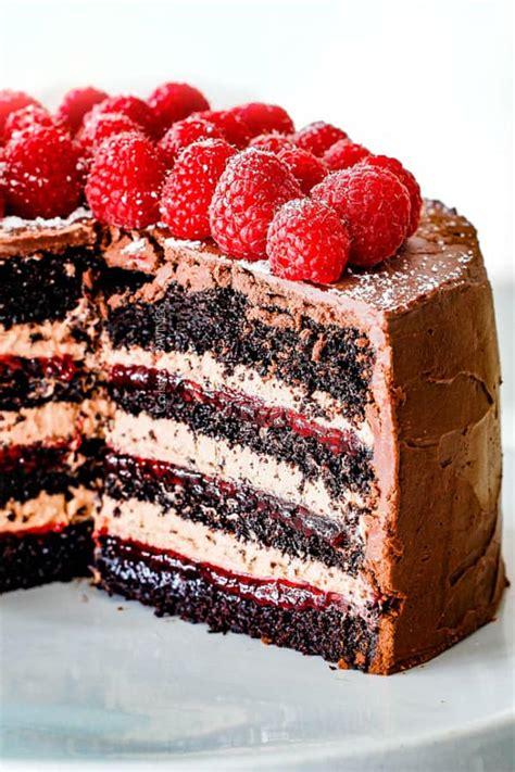 chocolate raspberry cake  raspberry jam chocolate