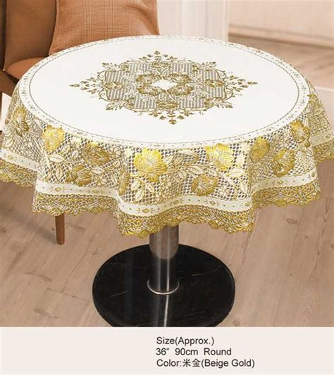 tablecloth for 36 round table tablecloths table linens tablecloth golden pvc round 36 quot x