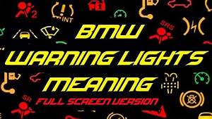Bmw E90 Warning Light Meanings