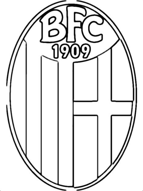 kleurplaat met bologna fc  logo gratis kleurplaten