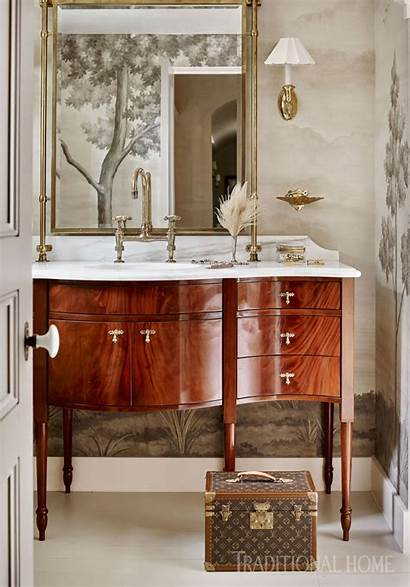 Powder Wallpapers Carolina Traditionalhome Traditional Bathroom Favorite