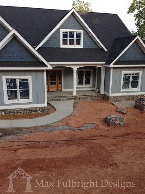 craftsman style lake house plan  walkout basement    ranch style house plans
