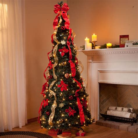 6 ft pull up fully decorated tree pull up christmas