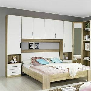 Piano Elements High Polish Double Overbed Unit Bedrooms