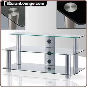 Table Pour Tv : meuble tv en verre ~ Teatrodelosmanantiales.com Idées de Décoration