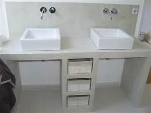appliquer du beton cire sur du siporex inspiration With meuble salle de bain beton cellulaire