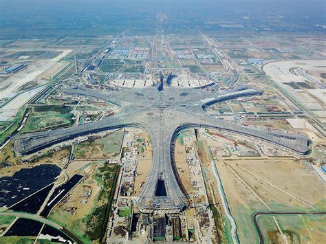 Neuer Flughafen Peking by Decoration Work Starts On Beijing S Second Airport China