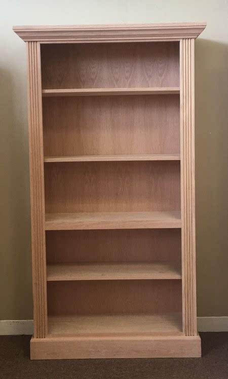 10 Inch Wide Bookcase by Oak 36 Wide X 72 High Embassy Bookcase Unfinished