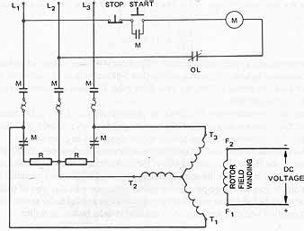 ac synchronous motor wiring diagram circuit and