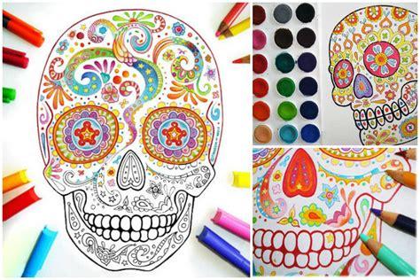 Permalink to Sugar Skull Coloring Book Free Photo Ideas
