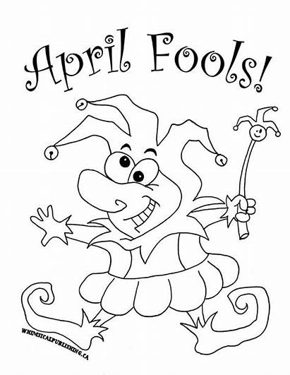 Fools April Coloring Pages Fool Poems Printable