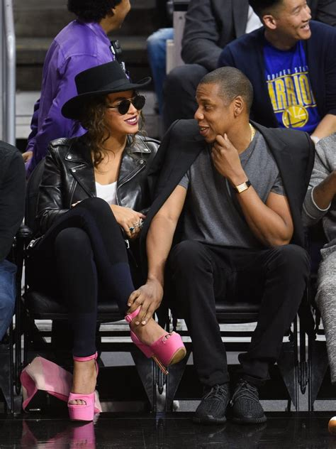 jay   beyonce  la clippers game february
