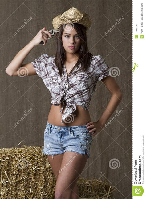 suicidal cowgirl stock image image  anxiety portrait