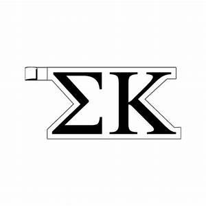 greek letters sigma kappa plastic greek letter shaped With plastic greek letters
