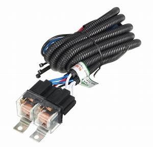 Bat Tech H4 Headlight 2 Headlamp Relay Wiring Harness Car Lights 12 V 80 Amp