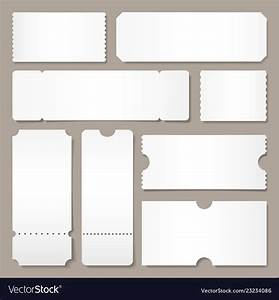 Blank ticket template festival concert tickets Vector Image