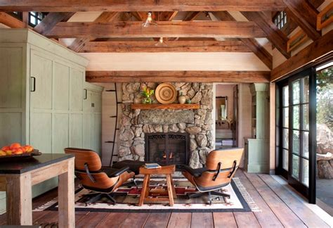 Stone Cottage rustic living room