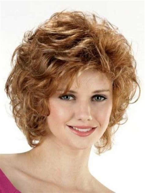 best curly short hairstyles for round faces short