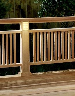 deck railing  built  lighting woodworking plan  wood magazine